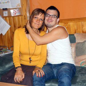 Mama Marcela Žitňaková so synom Ivanom Bobáľom